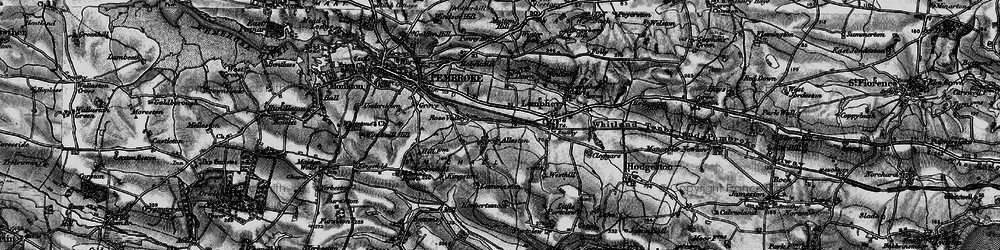 Old map of Alleston in 1898