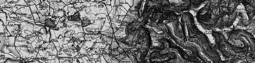 Old map of Roseberry Topping in 1898