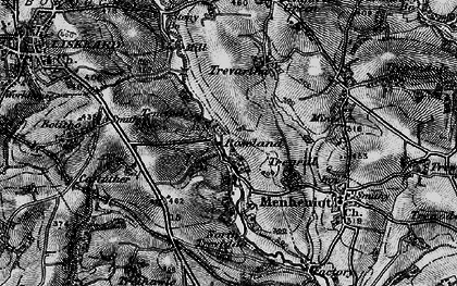Old map of Roseland in 1896