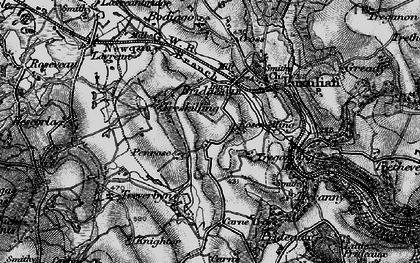 Old map of Rosemelling in 1895
