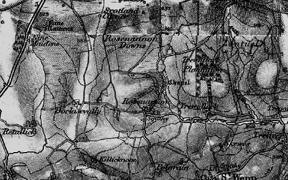 Old map of Rosenannon in 1895