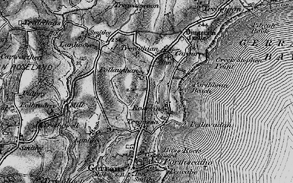 Old map of Rosevine in 1895