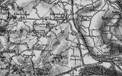Old map of Rosewarne in 1896
