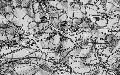 Old map of Roseworthy Barton in 1896