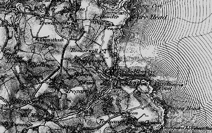 Old map of Roskorwell in 1895