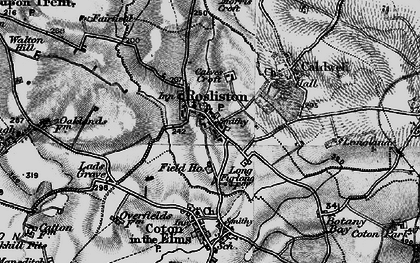 Old map of Rosliston in 1898