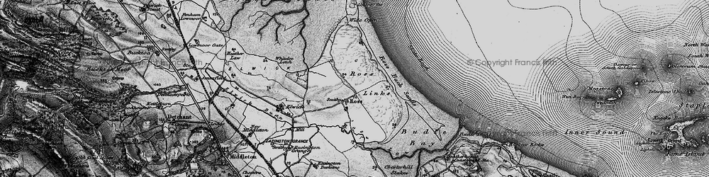 Old map of Wide Open in 1897