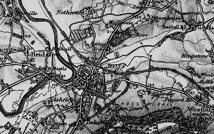 Old map of Ross-on-Wye in 1896