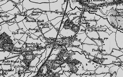 Old map of Rossett in 1897