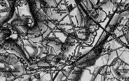 Old map of All Saints Court in 1898