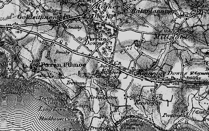 Old map of Rosudgeon in 1895