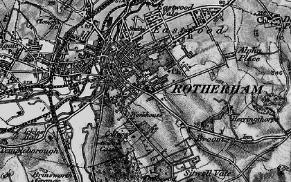 Old map of Rotherham in 1896
