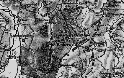 Old map of Rotherwick in 1895