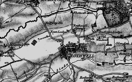 Old map of Rothwell in 1898