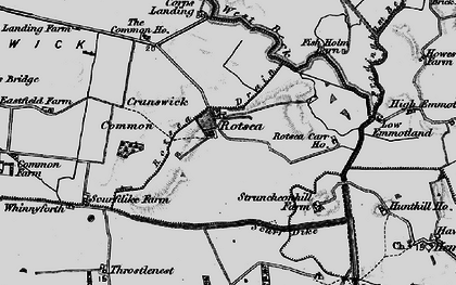 Old map of Whinnyforth in 1898