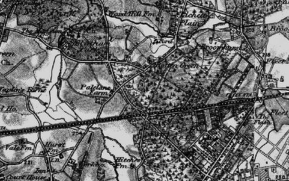 Old map of Lichett Plain in 1895