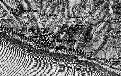 Old map of Rottingdean in 1895