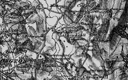 Old map of Tickhill in 1897