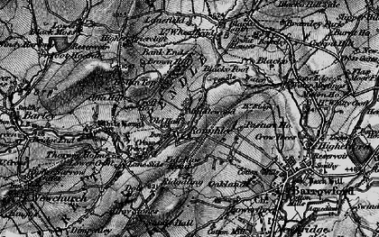 Old map of Roughlee in 1898