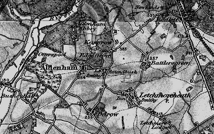 Old map of Round Bush in 1896
