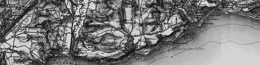 Old map of Whitlands in 1897