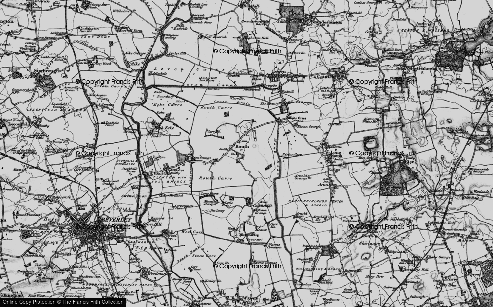 Old Map of Routh, 1897 in 1897
