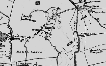 Old map of Leven Canal in 1897