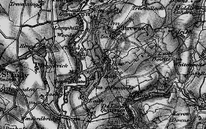 Old map of Row in 1895