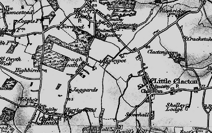 Old map of Ampers Wick in 1896