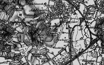 Old map of Row Town in 1896