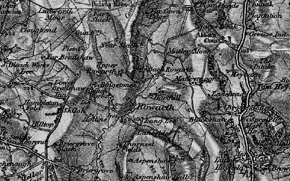 Old map of Rowarth in 1896