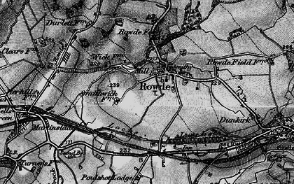 Old map of Rowde in 1898