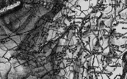 Old map of White Hart in 1899