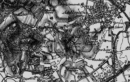 Old map of Rowhill in 1896