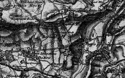 Old map of Rowland in 1896