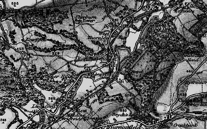 Old map of Rowlands Gill in 1898