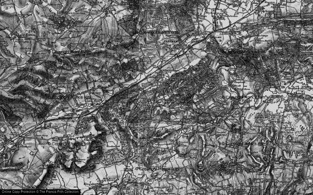 Old Map of Rowledge, 1895 in 1895
