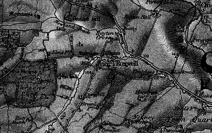 Old map of Roxwell in 1896