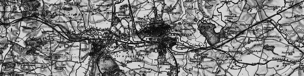 Old map of Leamington Spa in 1898