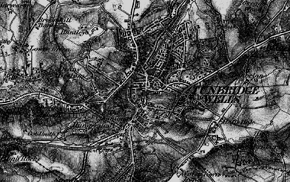 Old map of Tunbridge Wells in 1895