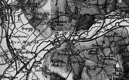 Old map of Lightfoots in 1896