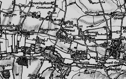 Old map of Wortham Ling in 1898