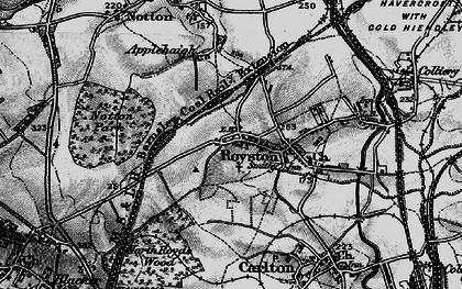 Old map of Royston in 1896