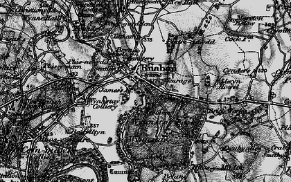 Old map of Ruabon in 1897