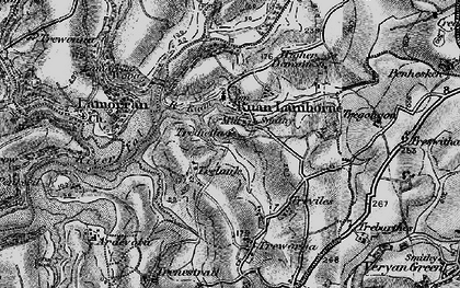 Old map of Ruan Lanihorne in 1895