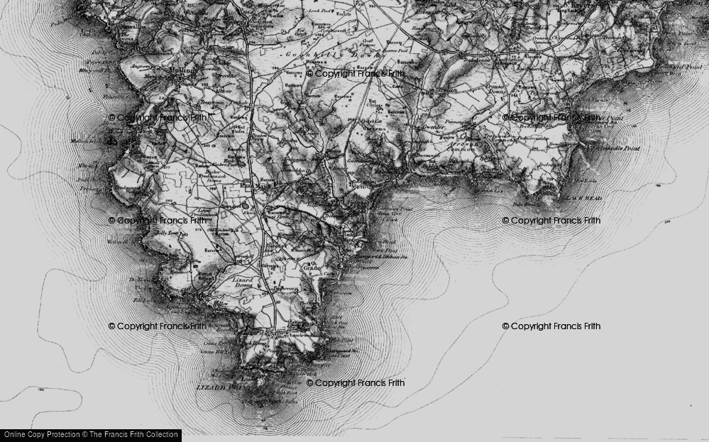 Old Map of Ruan Minor, 1895 in 1895