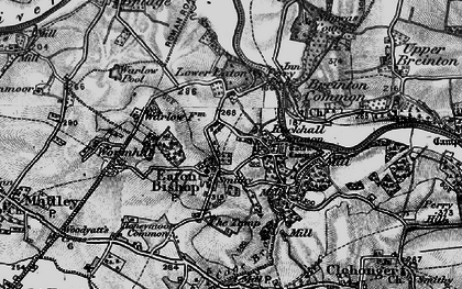 Old map of Wormhill in 1898