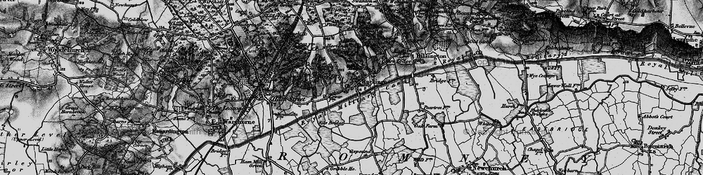 Old map of Ruckinge in 1895