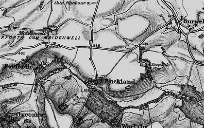 Old map of Woody's Top in 1899