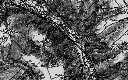Old map of Rucklers Lane in 1896
